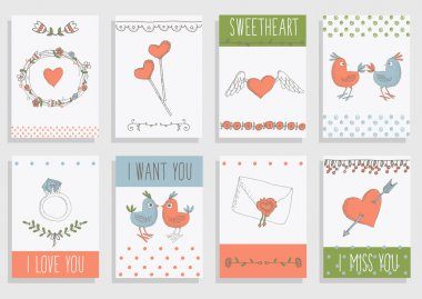 Template design for greeting cards.