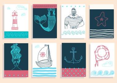 sailor, lighthouse, mermaid, ship
