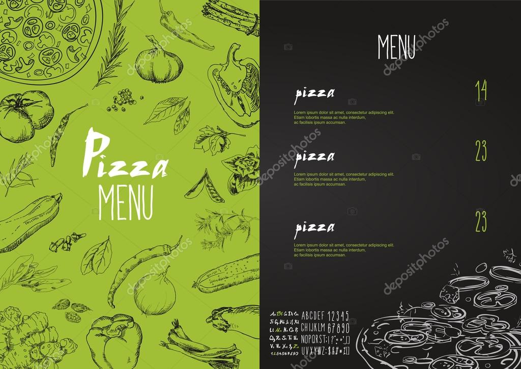 Pizza Menu Background Stock Vector