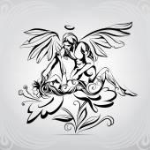 Vision of  angel illustration