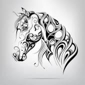 sziluettje egy ló feje