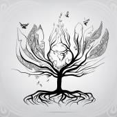 Fényképek A madarak alakja fa