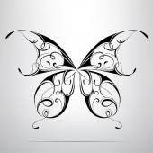 Photo Silhouette of butterfly in ornament