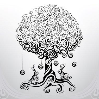 Fantastic tree in  ornament