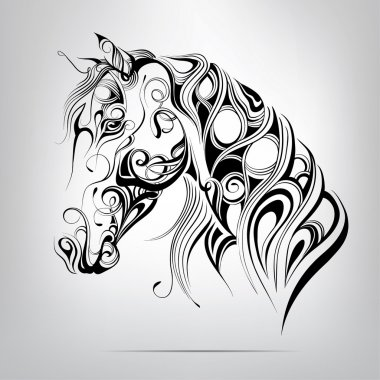 Silhouette of a horse's head