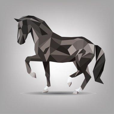Symbol of black horse