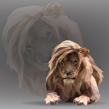 Lion in the geometric style