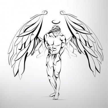 Man angel illustration