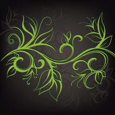 Decorative floral design.
