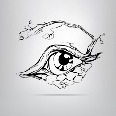 Silhouette of eyes illustration