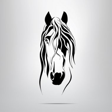 Silhouette of  horse's head