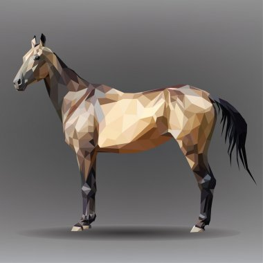 Golden horse isolated
