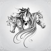 Dekoratív minta ló feje