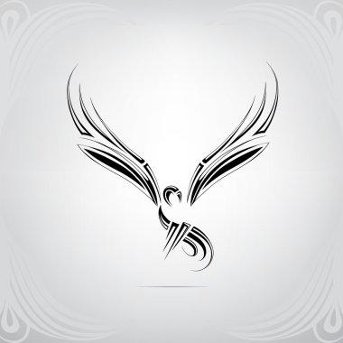 Stylized silhouette of bird