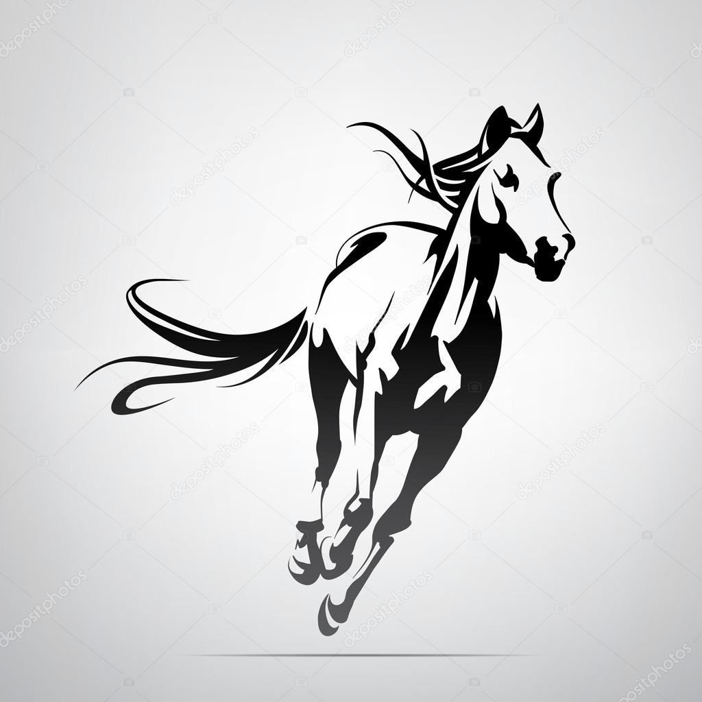 Silhouette Of Running Horse Stock Vector C Nutriaaa 95829984