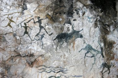 cave paintings of primitive man