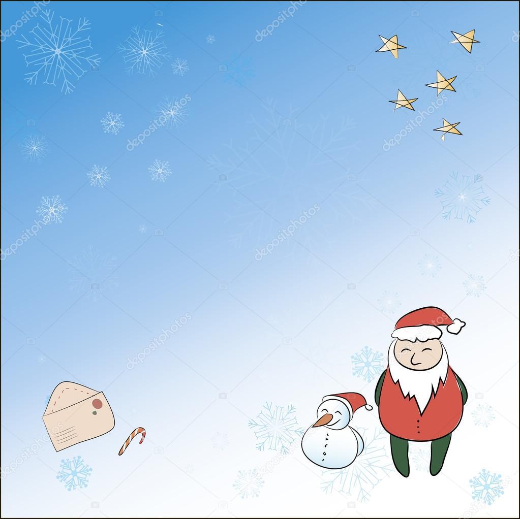 A square christmas card with santa snowman magic wand all group a square christmas card with santa snowman magic wand all group members are stored m4hsunfo