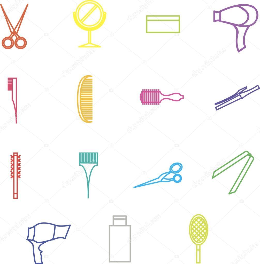 Dekor-Elemente Entwurf Barber shop, Beauty-Salon, Haarpflege ein ...