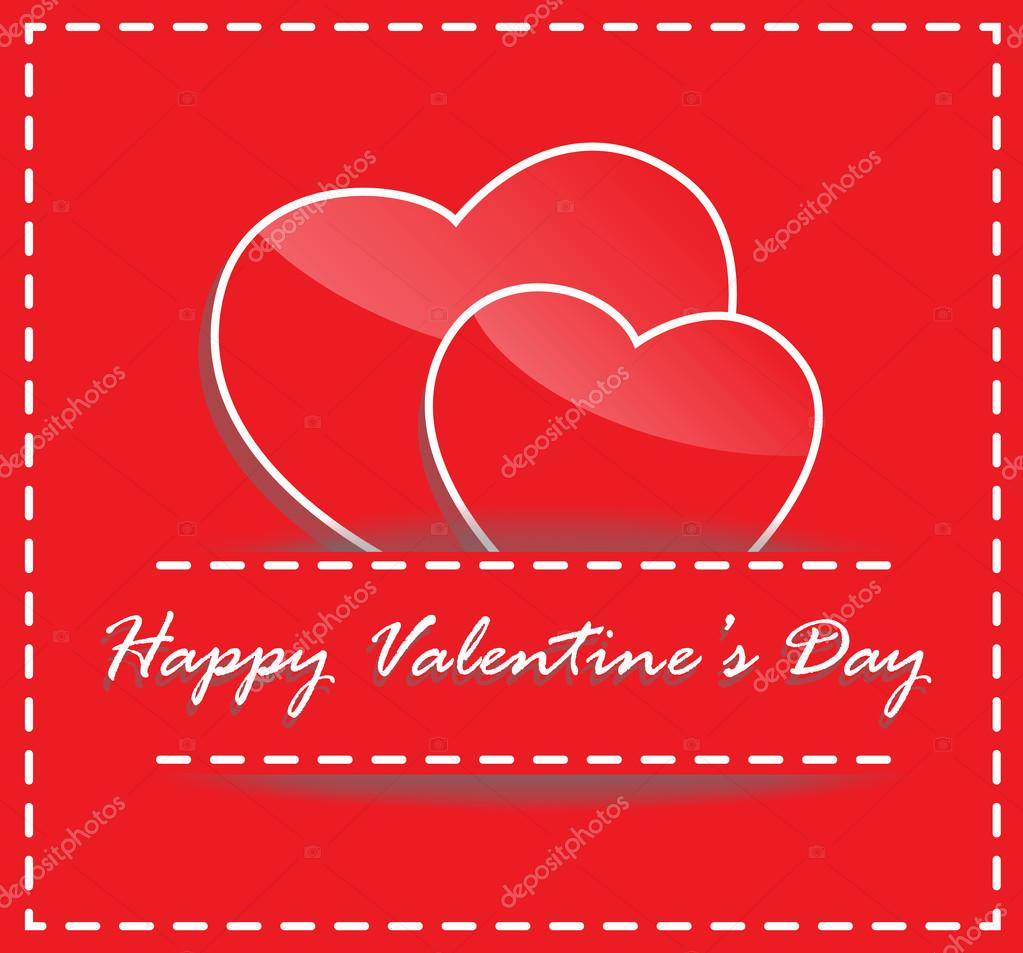 Happy Valentine Card Stock Vector Chartcameraman 108470404