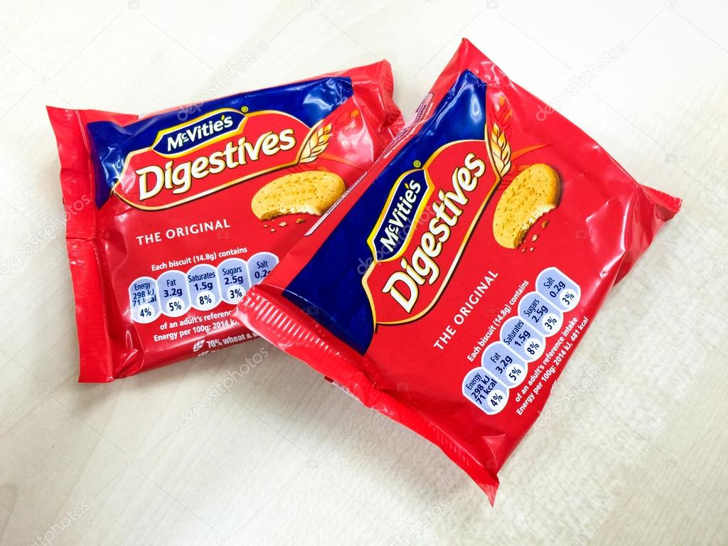 A pack of McVities Digestives tea biscuits