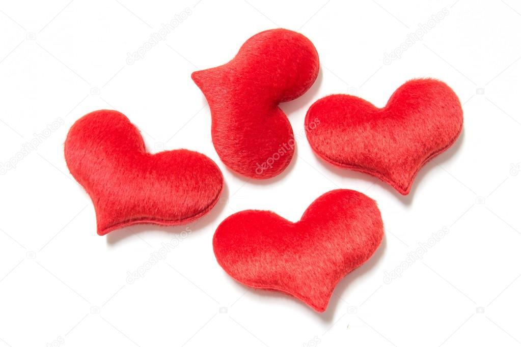 Velvet plush heart