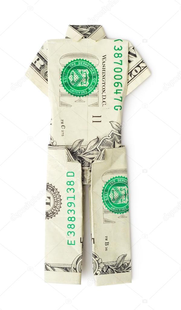 Dollar Money Origami Shirt and Tie | eBay | 1024x599