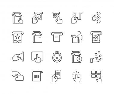 Line Kiosk Terminal Icons