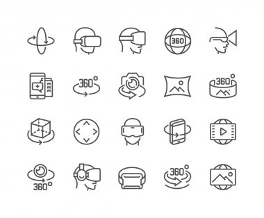 Line 360 Degree Icons