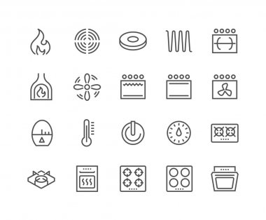 Line Stove Icons