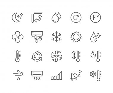 Line Air Conditioning Icons