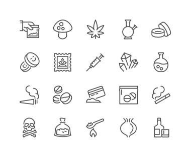 Line Drugs Icons