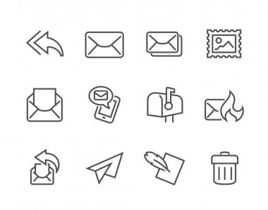 Outline Mail Icons