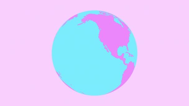 Ploché barevné dívčí geografické pohybu pozadí.