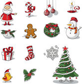 Fényképek Karácsonyi grafikai elemeket kézzel rajzolt vektoros