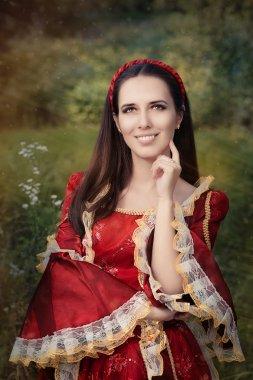 Medieval Princess Smiling