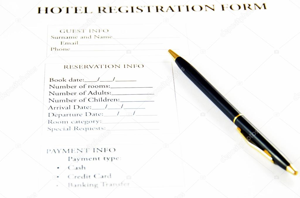 Hotel registration form stock photo cosmin35 64966753 blank hotel registration form photo by cosmin35 thecheapjerseys Gallery