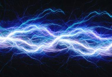 Blue electric lightning