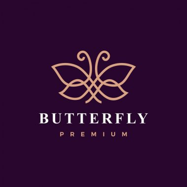 Butterfly logo vector icon illustration icon