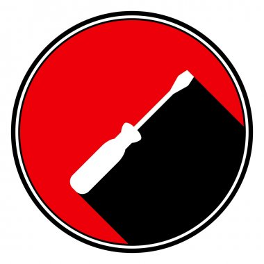 red information icon - white screwdriver