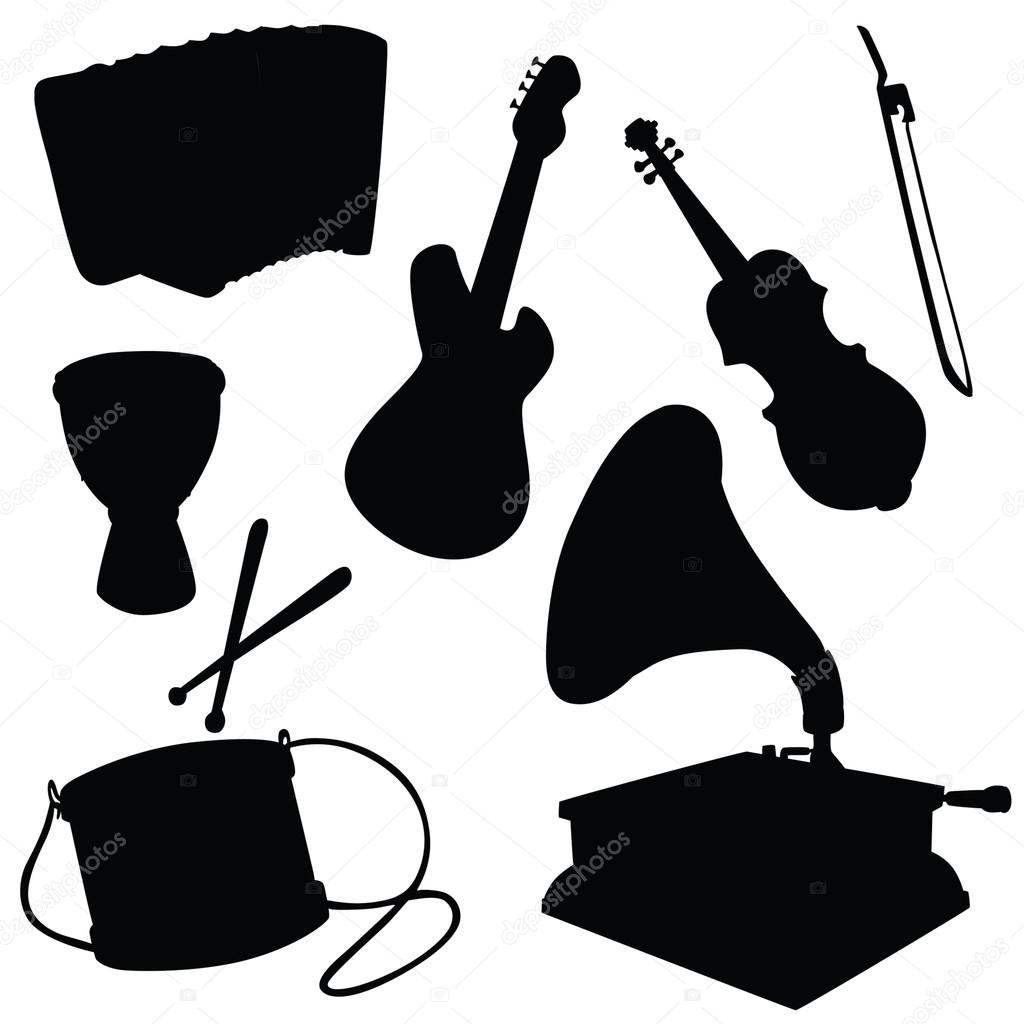 Silhueta De Vetor De Instrumentos Musicais