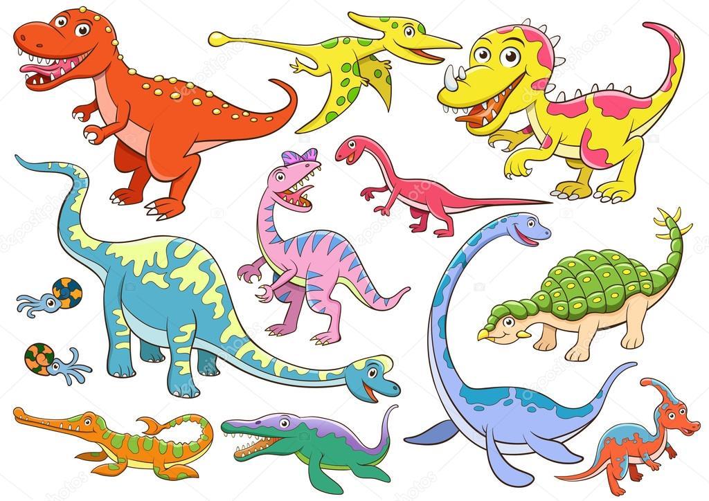かわいい恐竜漫画のイラスト ストックベクター Akarakingdoms 101236942