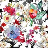 Fotografie nahtlose floral Hintergrund mit Blumen