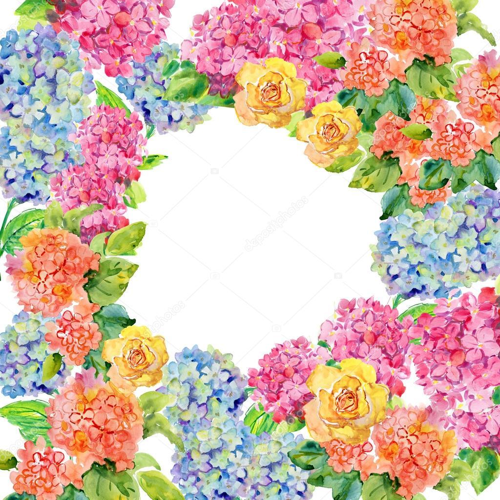 Botánica floral fondo enmarcado — Fotos de Stock © olies #56486513