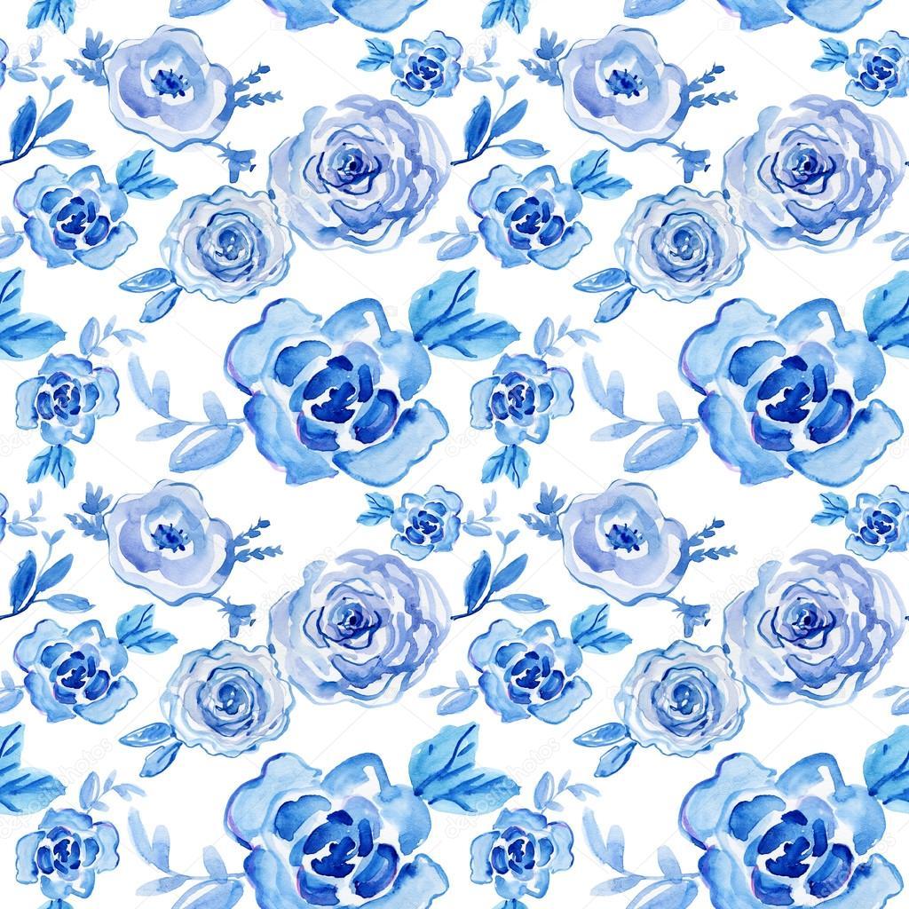Patrones Sin Fisuras Con Flores Azules Fotos De Stock C Olies