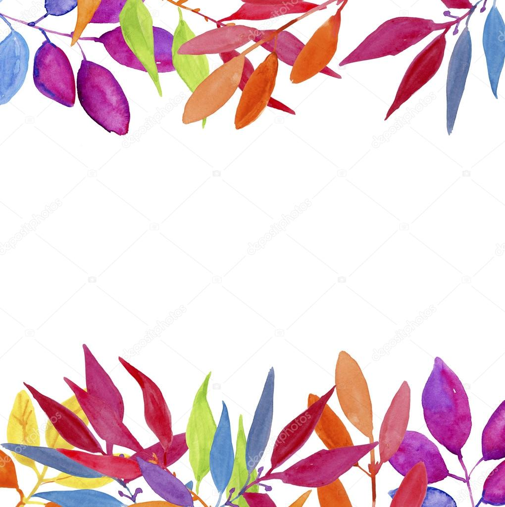 watercolor floral border stock photo olies 96731070
