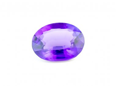 Beautiful purple natural faceted amethyst gemstone