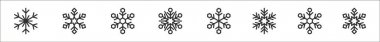 Set of 8 snowflakes thin outline icons such as snowflake, snowflake, snowflake, icon