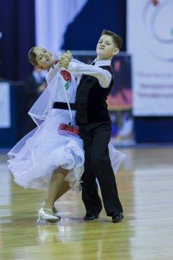 Minsk-Belarus, October 4,2014: Unidentified Dance couple perform
