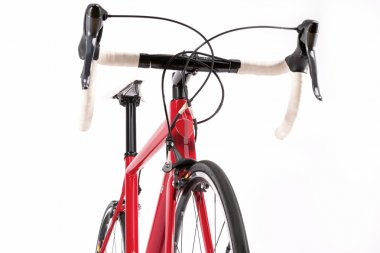 Sport Concept. Professional Road Bicycke With Red Carbon Frame.