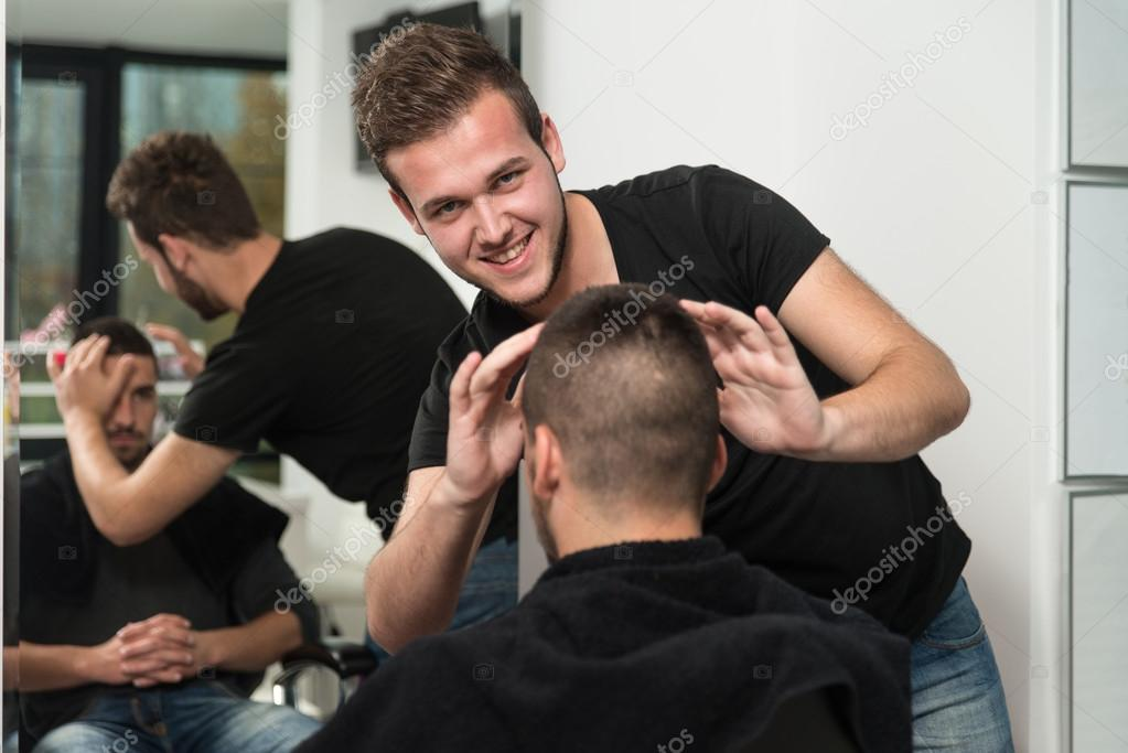 Professional Hairdresser With Short Hair Model
